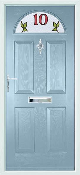 Conway composite door - Duck egg blue
