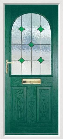 Stafford composite door - green