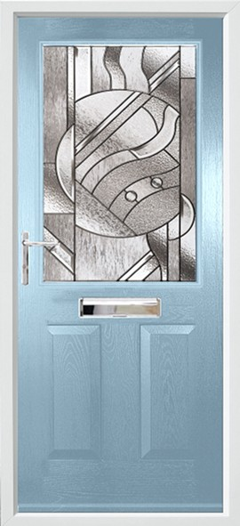 Beeston composite door - Duck egg blue