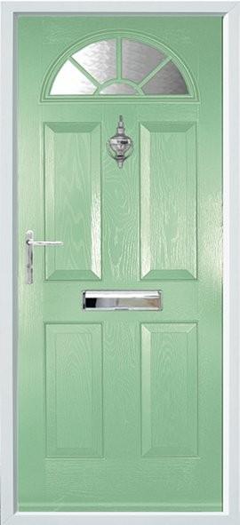 Conway composite door - Green