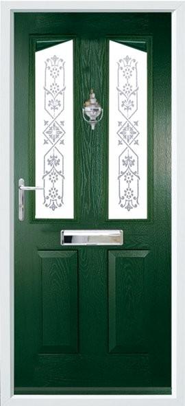 Harlech composite door - green