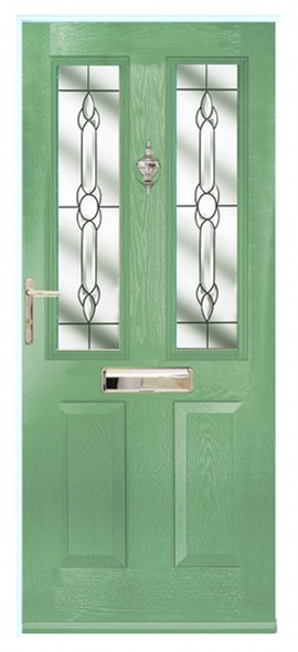 Ludlow composite door - green