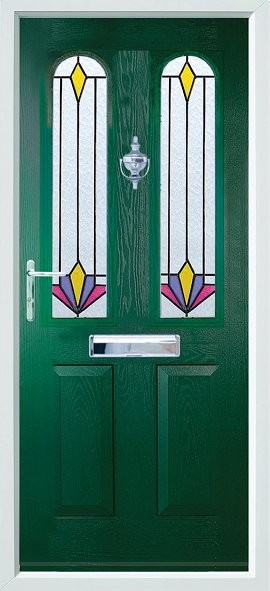 Nottingham composite door - green