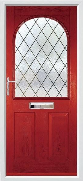 Stafford composite door - red