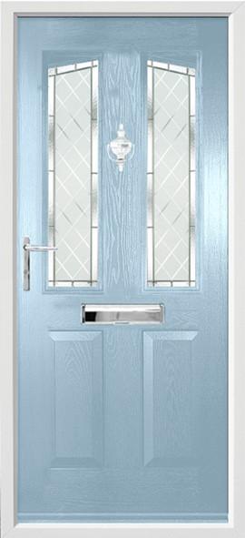 Harlech composite door - duck egg blue