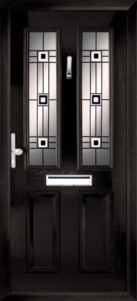 Ludlow composite door - black