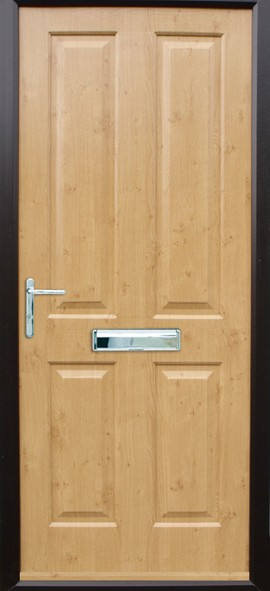 Ludlow composite door - Irish Oak