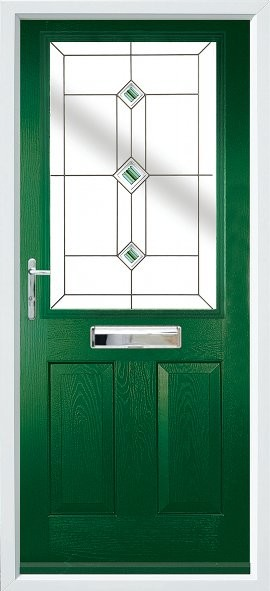 Beeston composite door - Green