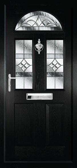 Conway composite door - Black