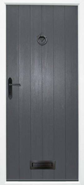 Flint composite door - Grey