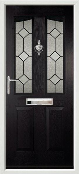 Harlech composite door - black