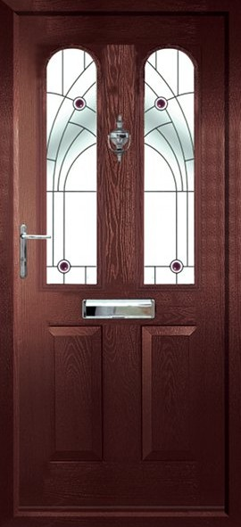 Nottingham composite door - Rosewood