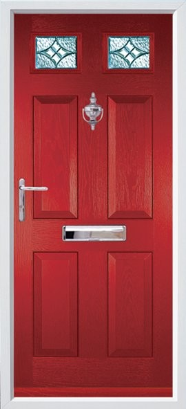 Tenby composite door - Red