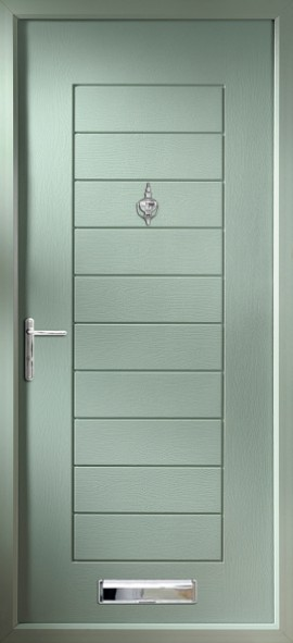 Windsor composite door - green