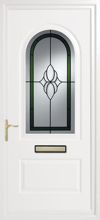 Trinity Green Cluster upvc panel door from Bicester UPVC direct