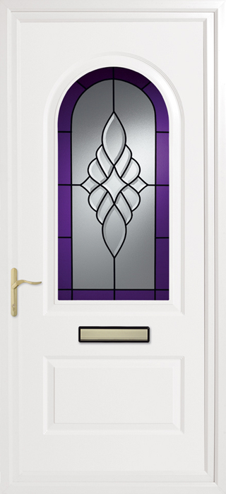 Trinity Purple Royale Inverted Mouldings uPVC panel door from Bicester UPVC direct