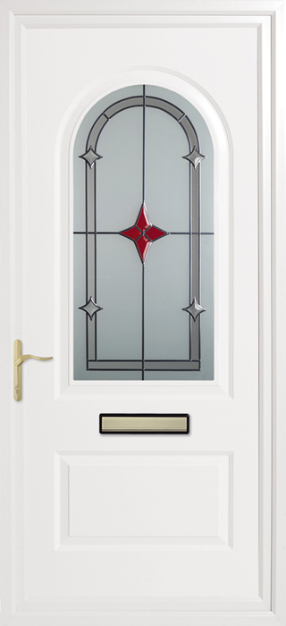 TrinityRed Star Inverted Mouldings uPVC panel door from Bicester UPVC direct