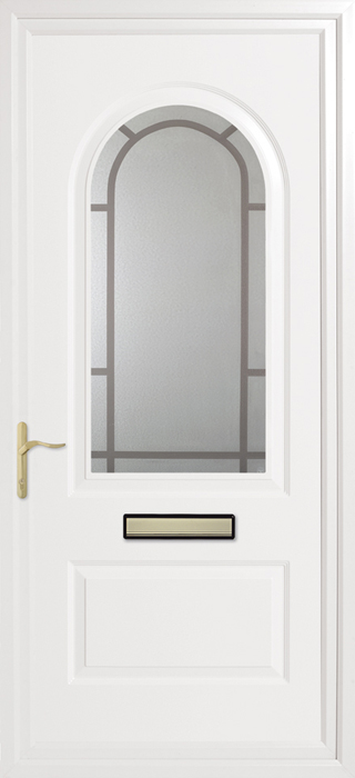 Trinity Winter Rose Inverted Mouldings uPVC panel door from Bicester UPVC direct