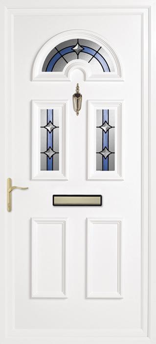 Yelling Rainbow Blue upvc panel door from Bicester UPVC direct