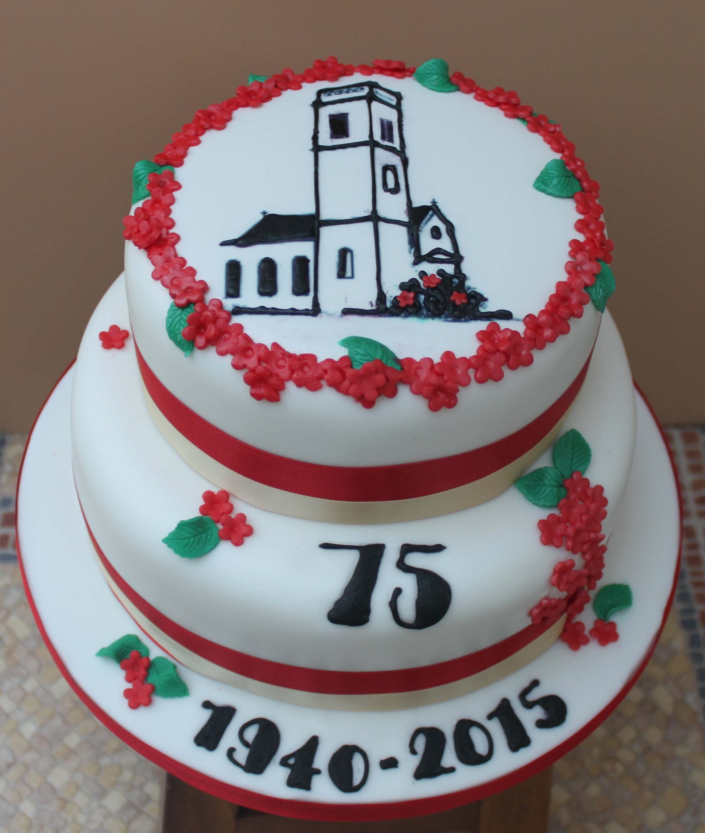 All Hallows Twickenham 75th anniversary cake