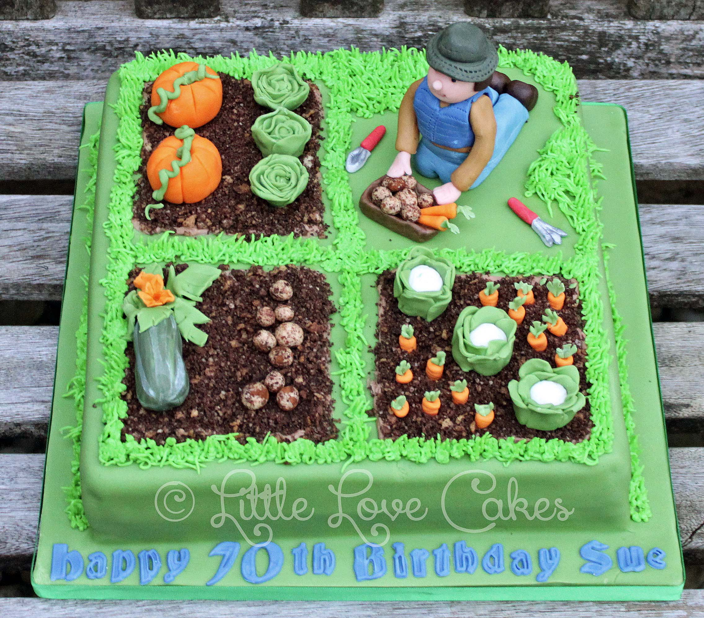 Allotment garden cake