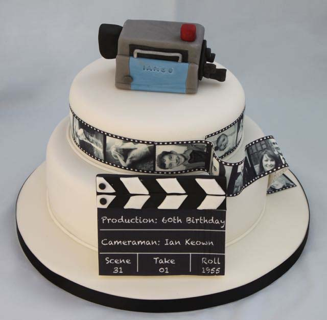 Camerman 60th birthday cake