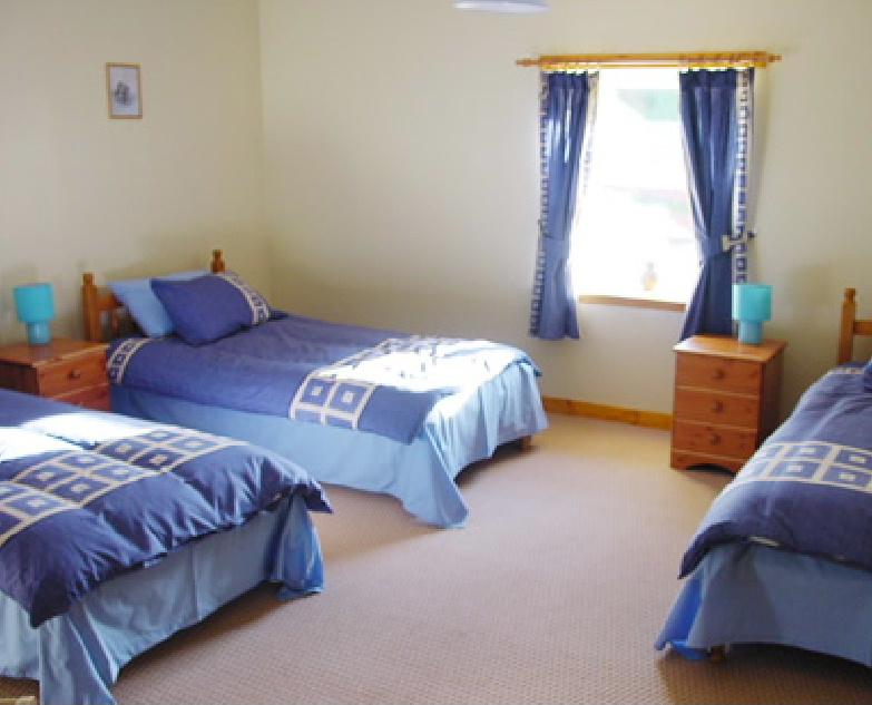Bedroom at The Mill holiday cottage, Dumfries and Galloway, Scotland