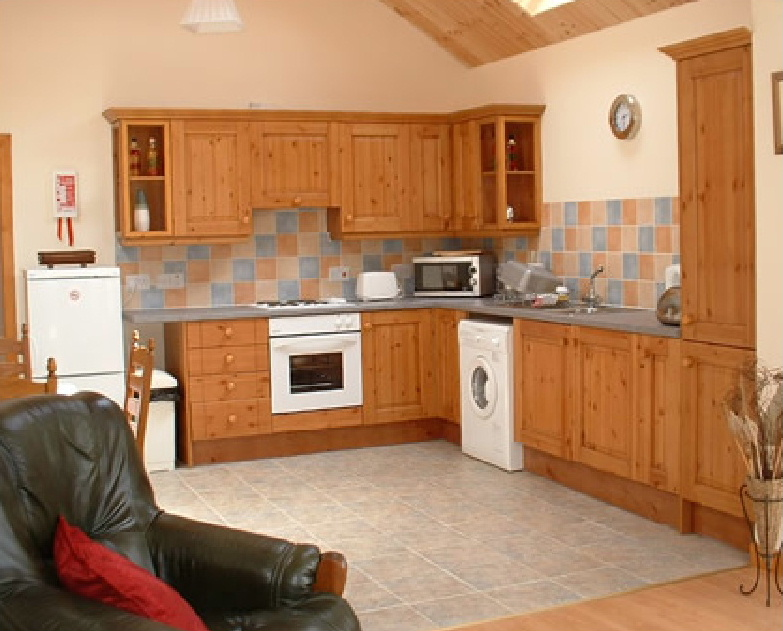 The kitchen at Stable Cottage holiday accommodation in Dumfries and Galloway, Sco