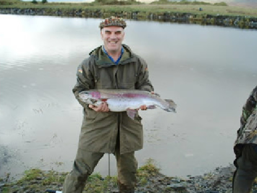 A big catch at Glenquicken Farm Troutmasters Fishery, Dumfries and Galloway, Scotland