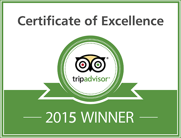 Hunters Lodge 2015 Certificate of Excellence from TripAdvisor