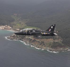 Flt Lt Lee Hodgkinson over Corsica