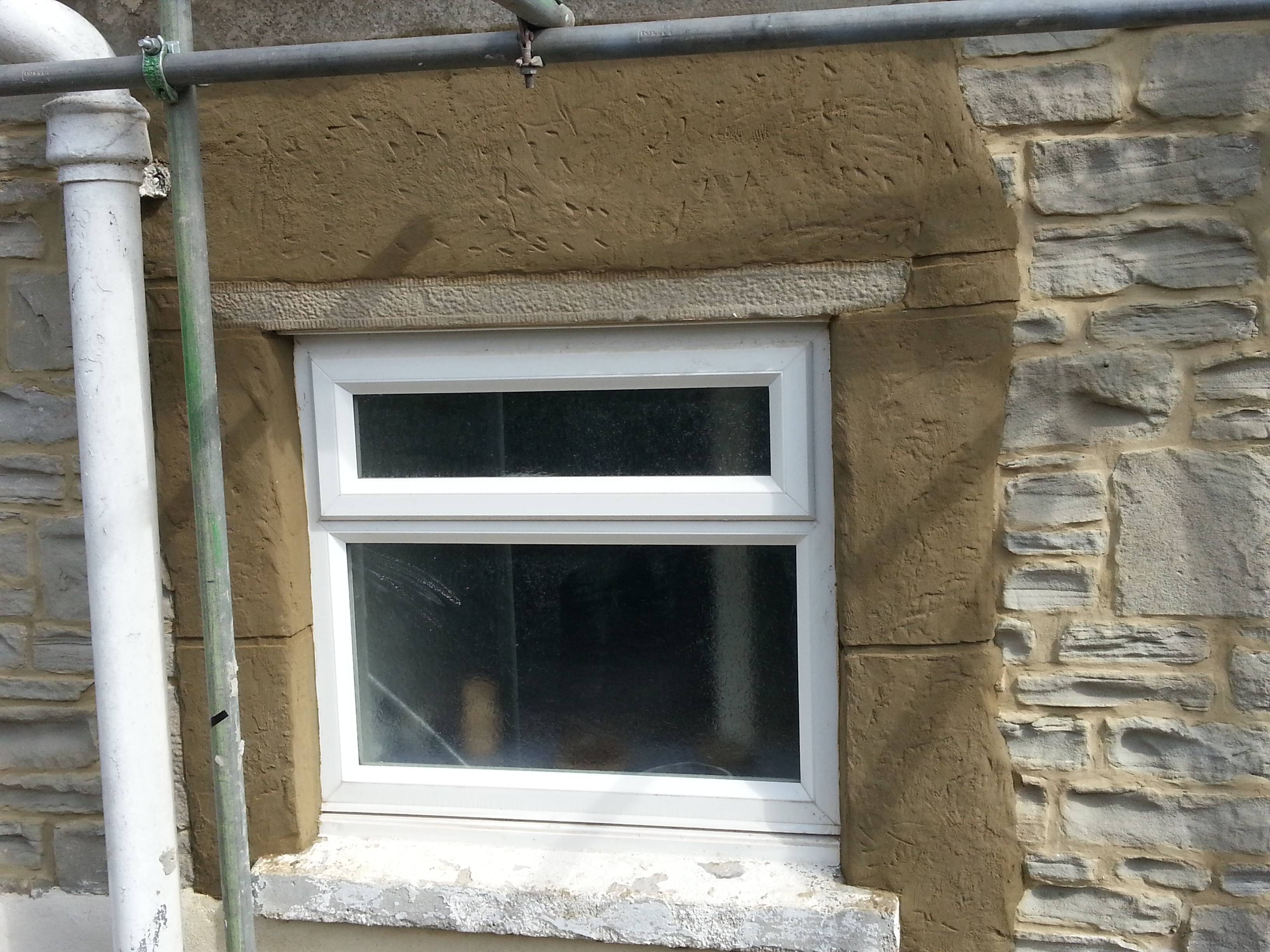 feature stone effect ...was blockwork around window