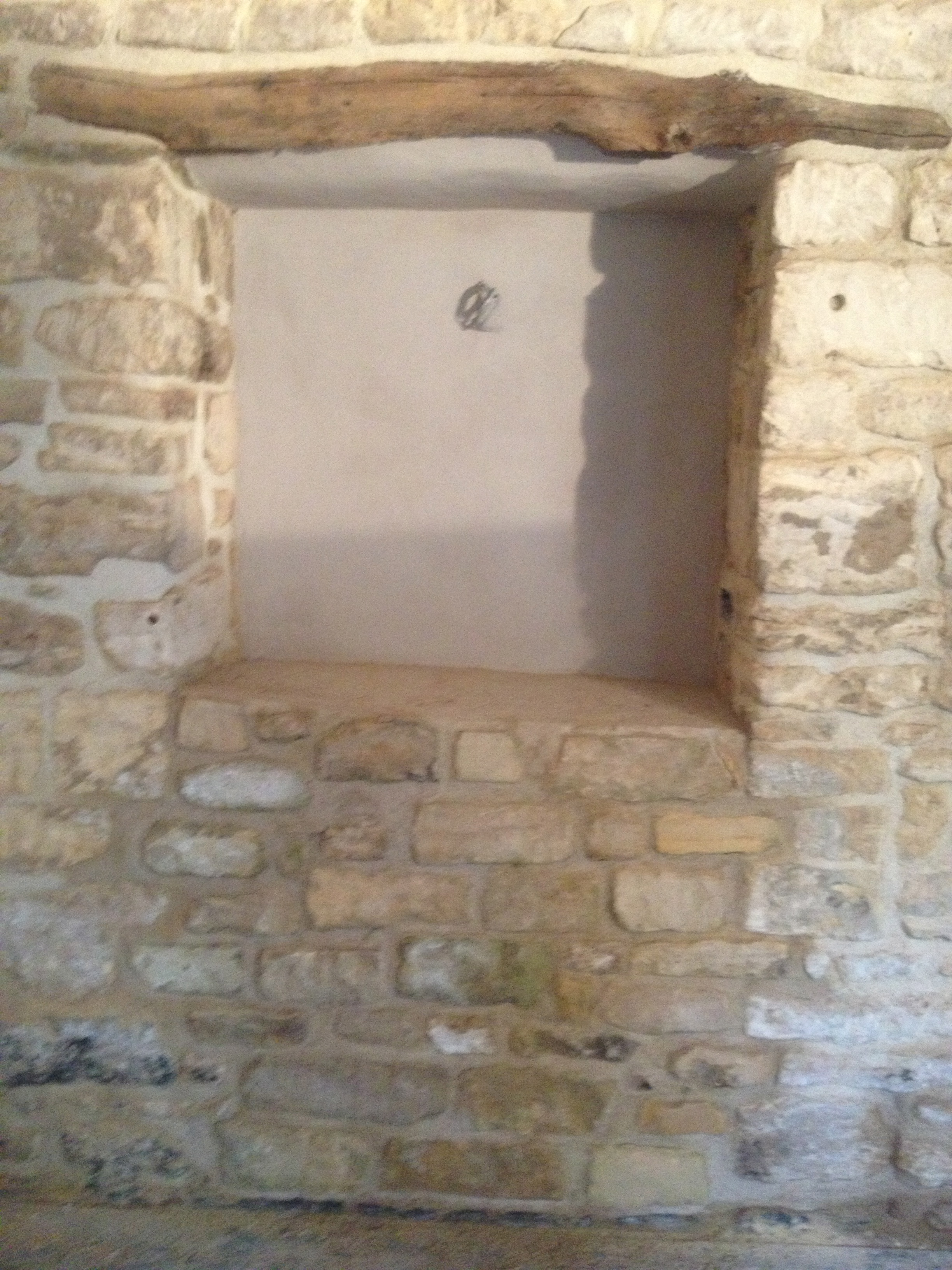 niche built from old doorway