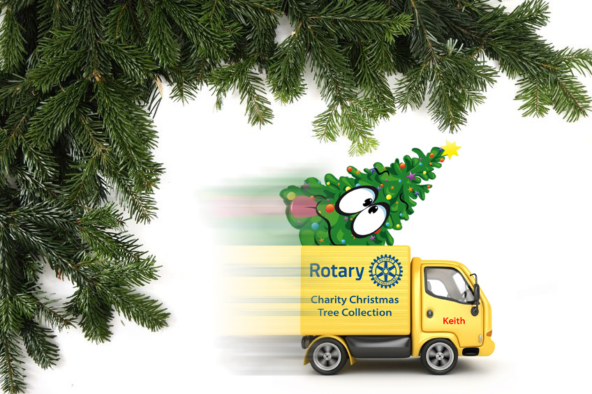 xmas tree recycling Louth Rotary Club