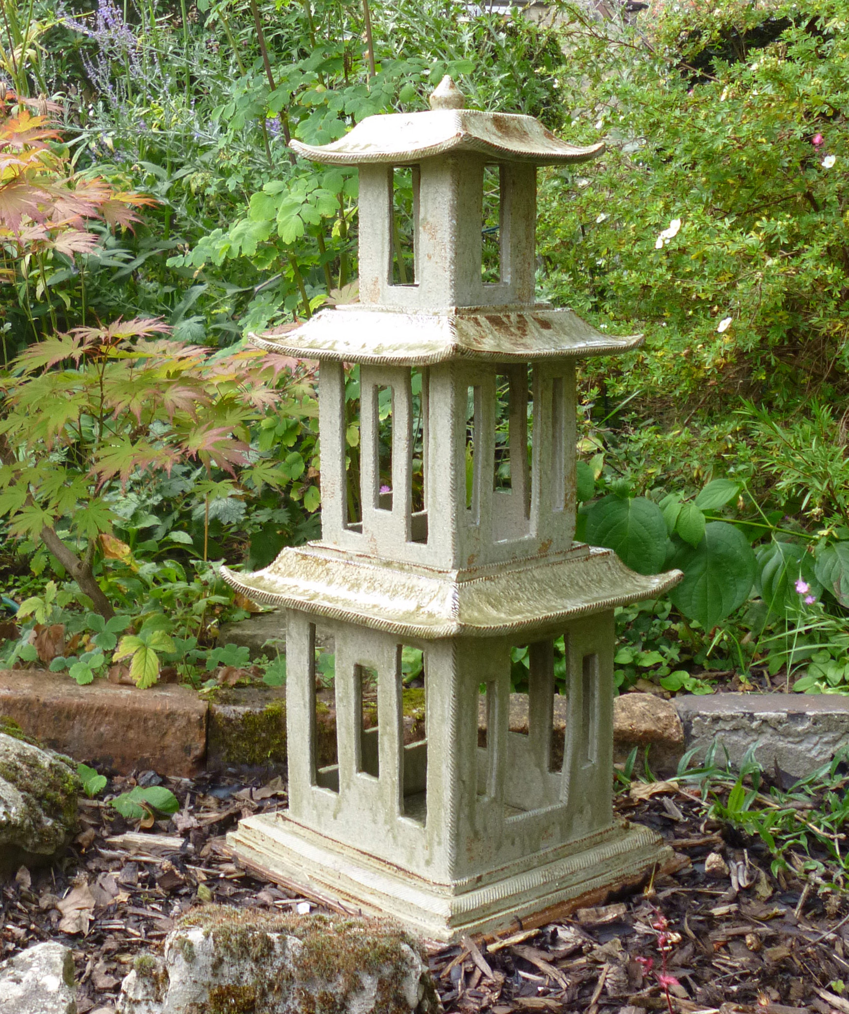 three tier garden lantern