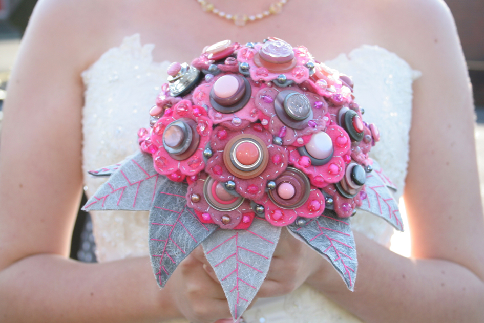 Pink / Grey Felt Bouquet