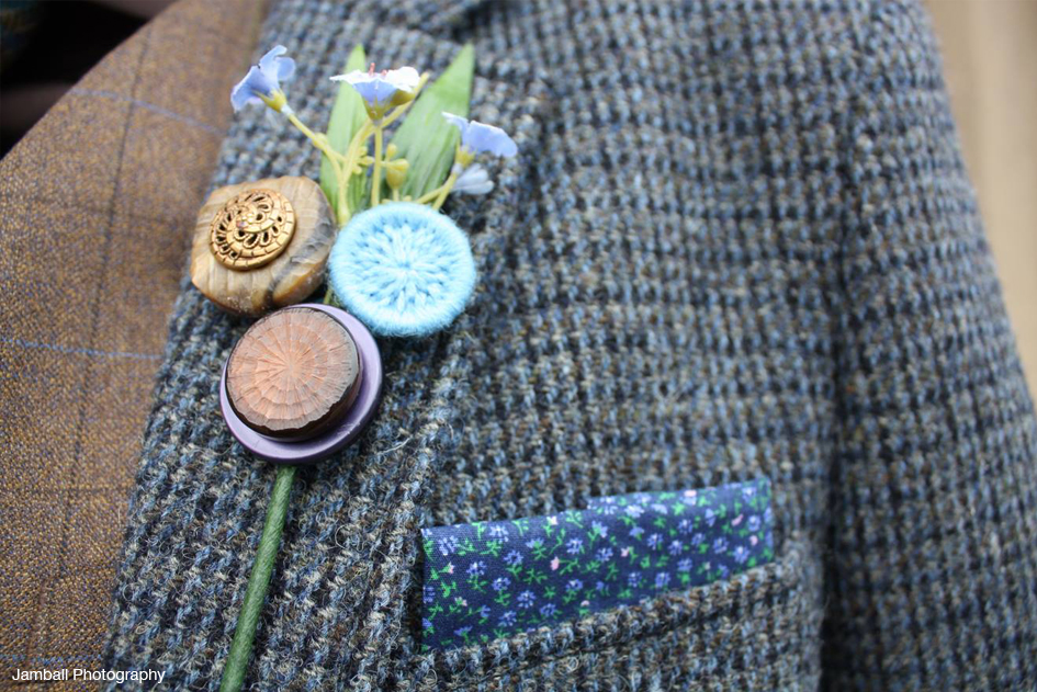 Tweed Buttonhole