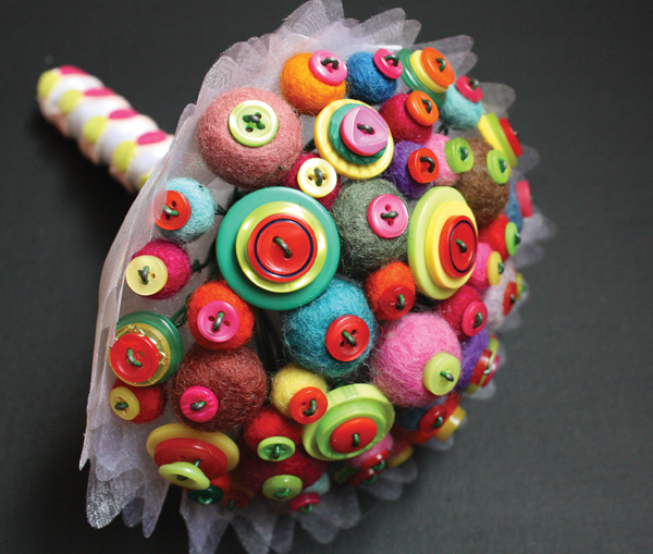 DIY Felt & Button Bouquet