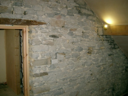 This Is The Attic Of An Old Vicarage In North Derbyshire. The Modern  Plaster Has Been Removed From The Wall And It Was Decided To Point The Wall  Instead Of ...