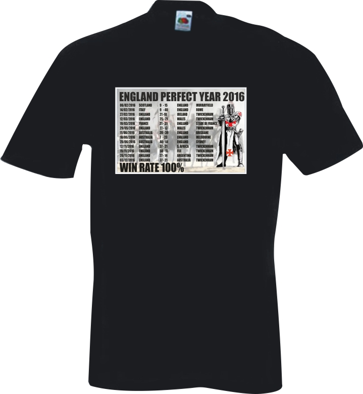 Kids black t shirt england rugby perfect year for Perfect black t shirt