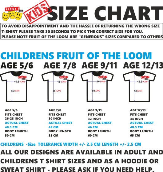 Size guide, baby clothes