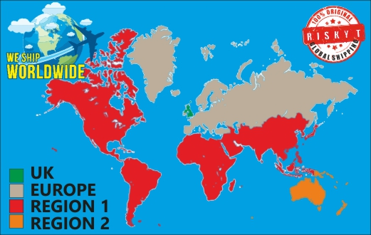 Riskytcom Offer Worldwide Shipping - Us shipping zones map