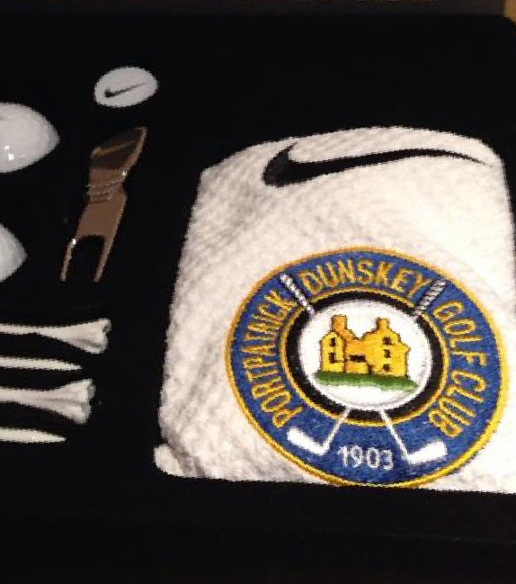 Golf Club embroidered badges from DG Embroidery of Stranraer like these Nike towels for Portpatrick Dunskey Golf Club