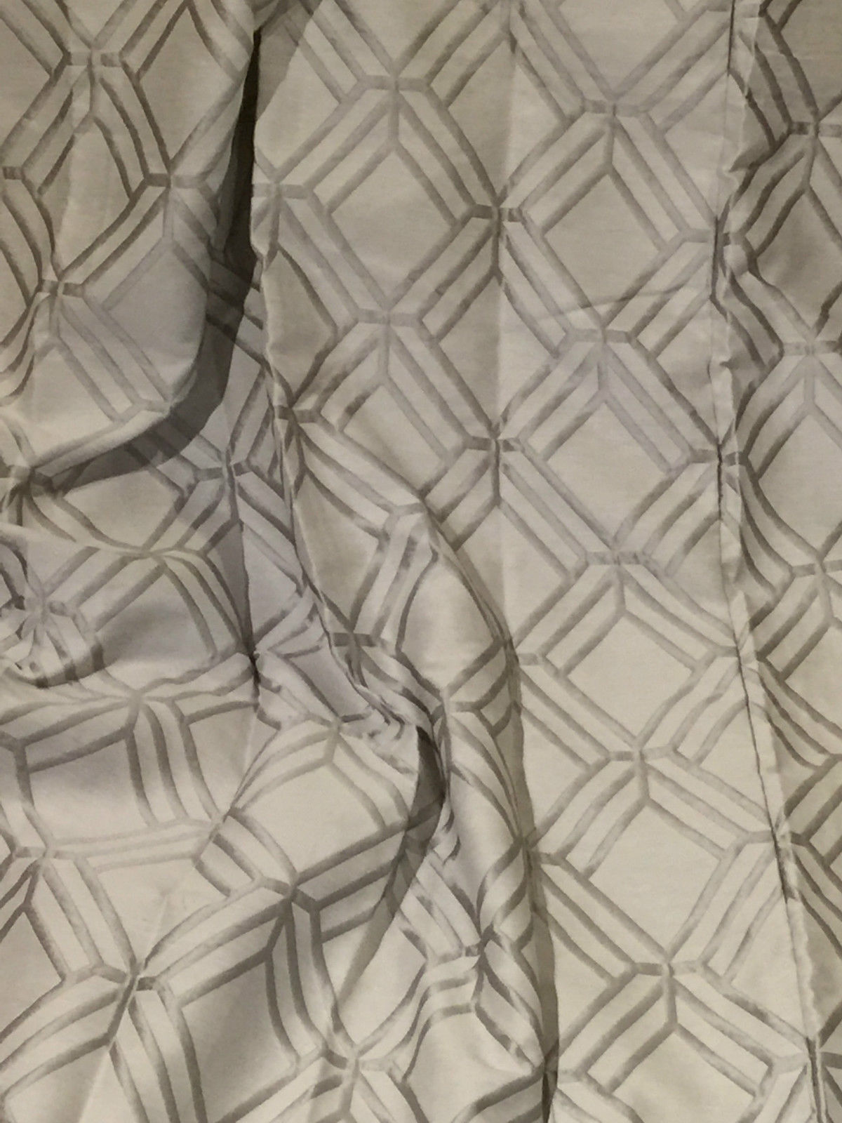 Silver Eyelet top Blackout Lined Hotel Curtains W195 D86