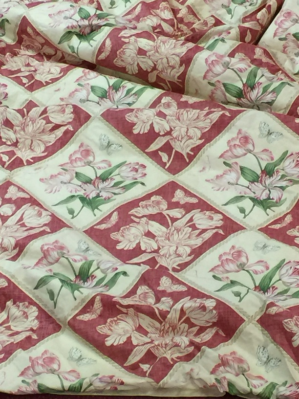 Jane Churchill Tulip Squares Interlined Curtains W100 D109