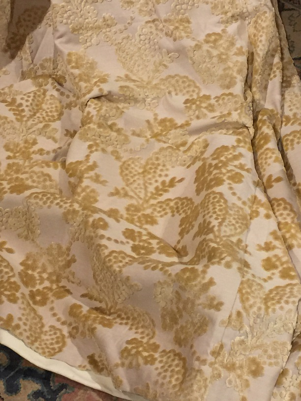 Laura Ashley Devore Velvet Pinch Pleat Curtains W86 D89