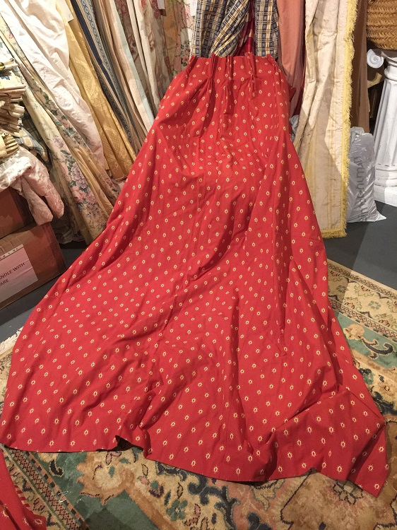 Nice Clean Red Lined Pinch Pleat Curtains W80 D84