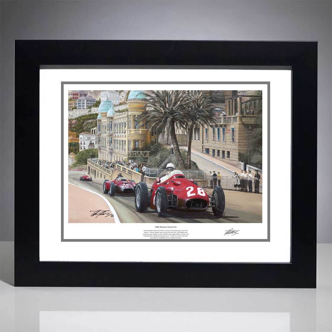 1956 Monaco Grand Prix Print - Signed by the Artist