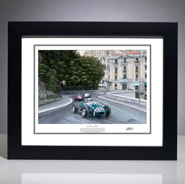 1961 Monaco Grand Prix Print - Signed by the Artist