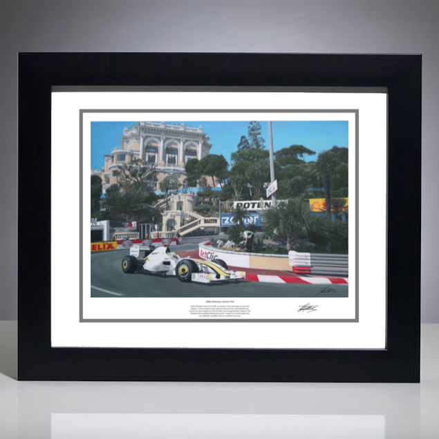 2009 Monaco Grand Prix Print - Signed Artist